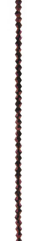 7\u0022 Bead Strands - Purple Metallic Crystal Bicones, 4mm