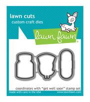 Lawn Fawn Lawn Cuts Custom Craft Die-Get Well Soon, , hi-res