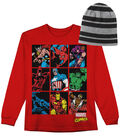 Marvel Comics Long Sleeved Shirt with Hat