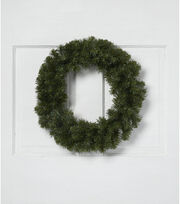 Blooming Holiday Christmas 18'' PVC Canadian Pine Wreath, , hi-res