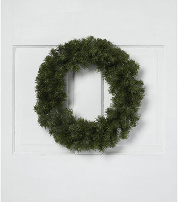 Blooming Holiday Christmas 18'' PVC Canadian Pine Wreath