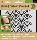 FolkArt® Stencil1™ Laser Stencils - Small - Scallop Pattern