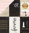 Wedding Bliss Foiled Cardstock 4\u0022X6\u0022 Journaling Cards