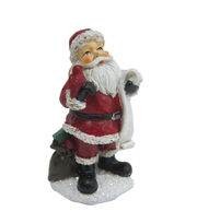 Maker's Holiday Christmas Littles Resin Santa with List, , hi-res