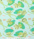 Blizzard Fleece Fabric 59\u0022-Froggies On Lily Pads