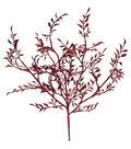 Blooming Holiday 20\u0027\u0027 Leaves Bush-Red Glitter
