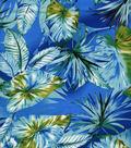 Simply Silky Prints Fabric Palm Rayon Blue
