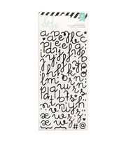 Heidi Swapp 81 Pack Glitter Puffy Alphabet Stickers-Black, , hi-res