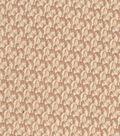 Vintage Cotton Fabric 43\u0027\u0027-Brown Vine Scrolls