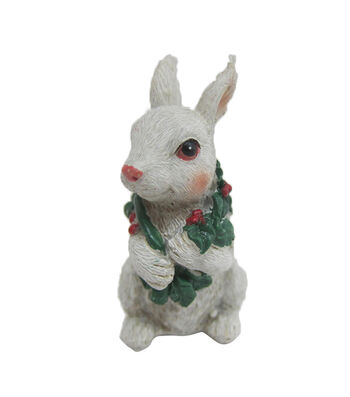 Maker's Holiday Christmas Littles Resin Bunny with Scarf