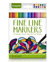 Crayola Fine Line Marker Set 12/Pkg-Contemporary, , hi-res