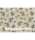 Vintage Cotton Fabric 43\u0022-Vine Floral Bouquet