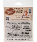 Dreamerland Crafts Sentiments Clear Stamp Set 3\u0027\u0027x4\u0027\u0027-Birthday 09