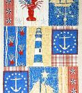 Novelty Cotton Fabric Panel 44\u0022-Nautical Patch