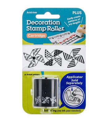 Decoration Stamp Roller Cartridge-Pinwheels