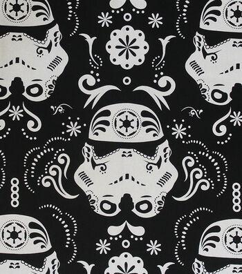 "Star Wars™ Cotton Fabric 44""-Stromtroopers Sugar Skulls"