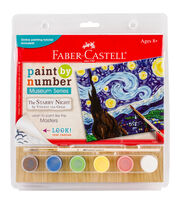 Faber-Castell® Museum Series Paint By Number Kit-The Starry Night, , hi-res