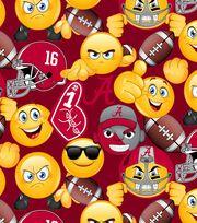 "University of Alabama Crimson Tide Cotton Fabric 43""-Emoji, , hi-res"