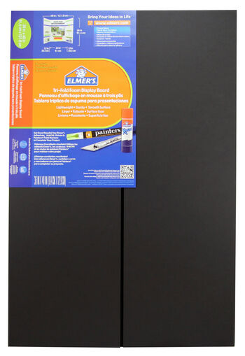 Elmer's Tri-Fold Display Board 36x48 - Black 1 Ply