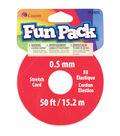 Fun Pack Stretch Cord Spool .5mm 50 Feet/Pkg-Clear