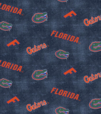 "University of Florida Gators Flannel Fabric 42""-Distressed Logo"