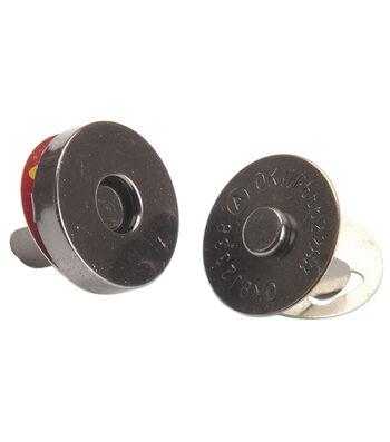 Bag Works Magnetic Purse/Tote Snap 1/Pkg-Onyx