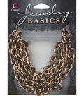 Jewelry Basics 62in/ 157.48cm Copper Oval Chain by Cousin