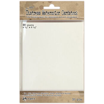 "Tim Holtz Distress Watercolor Cardstock 20/Pkg-4.25""X5.5"""