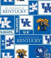 University of Kentucky Wildcats Fleece Fabric 58''-Block, , hi-res