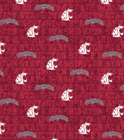 "Washington State University Cougars Cotton Fabric 43""-Distressed, , hi-res"