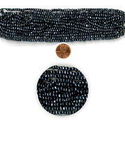 Blue Moon Strung Glass Seed Bead Hank,Hematite, , hi-res