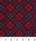 Snuggle Flannel Fabric 42\u0022-Black Red Green Plaid