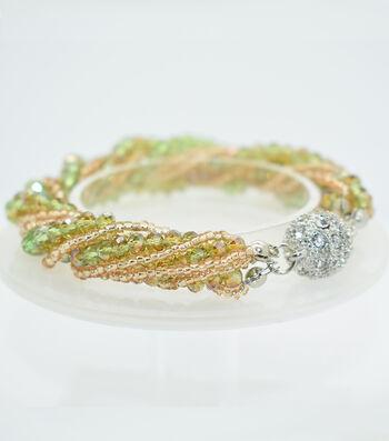 Crystal Multi Strand Bracelet-Deep Green