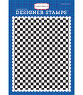 Carta Bella Background Stamp A2-Cartopia, Checkered Flag