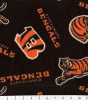"""Cincinnati Bengals Fleece Fabric 58""""-Tossed Print, , hi-res"""