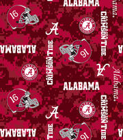 "University of Alabama Crimson Tide Fleece Fabric 60""-Digital, , hi-res"