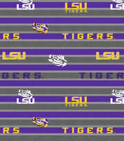"Louisiana State University Tigers Fleece Fabric 58""-Polo Stripe, , hi-res"