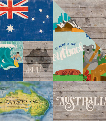 "Around The World Double-Sided Cardstock 12""X12""-Australia"