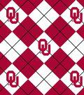 University of Oklahoma Sooners Fleece Fabric 58\u0022-Argyle