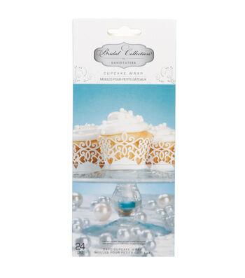 David Tutera Bridal Laser Cut Cupcake Wraps Pearl