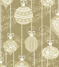 Christmas Cotton Fabric 43\u0022-Metallic Ornaments