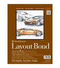 Strathmore Layout Bond Paper Pad 9\u0022X12\u0022-16lb 50 Sheets