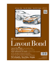 "Strathmore Layout Bond Paper Pad 9""X12""-16lb 50 Sheets, , hi-res"