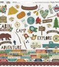 Cabin Fever Cardstock Stickers 12\u0022X12\u0022-Combo