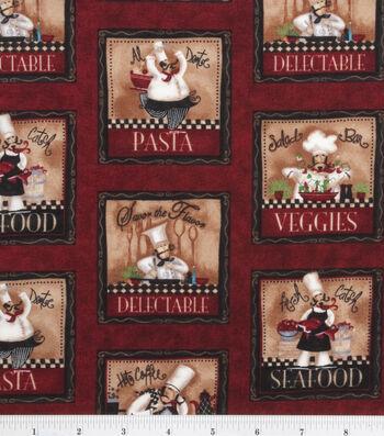 "Novelty Cotton Fabric 44""-Chef Panel"