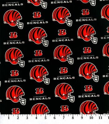 "Cincinnatti Bengals Cotton Fabric 58""-Helmet Logo"
