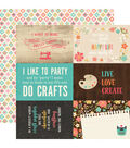 I\u0027d Rather Be Crafting 25 pk Double-Sided Cardstock-Journaling Cards