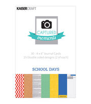 "Captured Moments Double-Sided Cards 6""X4"" 30/Pkg-School Days, , hi-res"