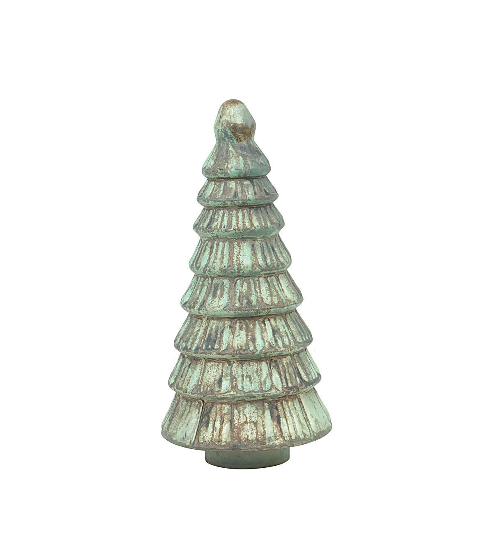 3R Studios Christmas 12u0027u0027 Embossed Mercury Glass Tree Distressed Finish