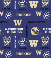 "University of Washington Huskies Cotton Fabric 43""-All Over, , hi-res"